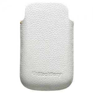 BlackBerry Leather Pouch Case white