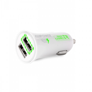 FUJIPOWER FAST CHARGE 2.4А зарядно с 2 USB