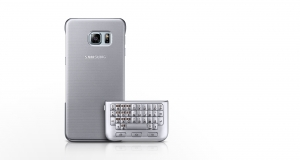 Keyboard Cover QWERTY Galaxy S6 edge+ silver