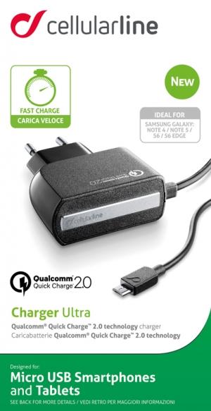 220V Qualcomm 2.0 бързо зарядно microUSB