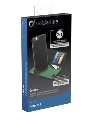 Combo калъф 2 в 1 за iPhone 7 черен