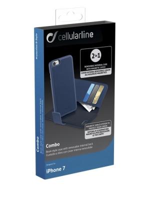 Combo калъф 2 в 1 за iPhone 7 син