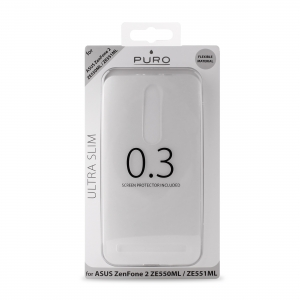 PURO Ultra Slim 0.3 за ASUS Zenfone 2:Прозрачен