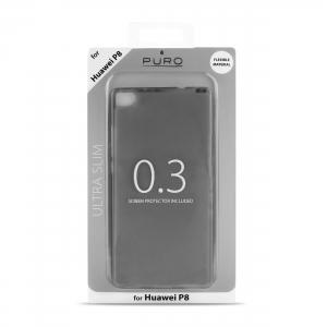 PURO Ultra Slim 0.3 за HUAWEI P8: черен