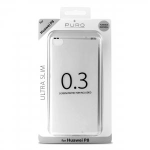 PURO Ultra Slim 0.3 за HUAWEI P8: прозрачен