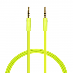 PURO плосък стерео аудио кабел: 1.0м:лайм