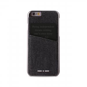 II DENIM POCKET калъф за iPhone 6/6S: черен