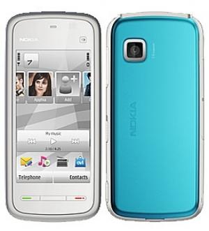 Nokia 5228 WHITE BLUE