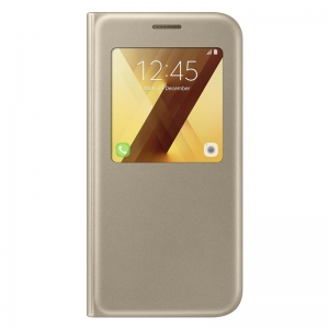Samsung Galaxy A5 (2017),S View Flip Case,Gold