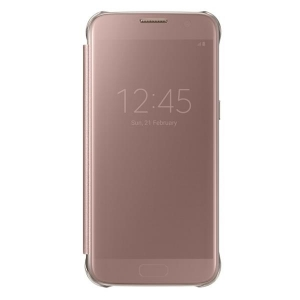 Samsung G935 Clear View Cover Pink за Galaxy S7 EDGE