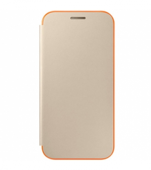 Samsung Galaxy A3 (2017), Neon Flip Cover,Gold
