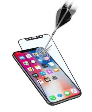 Закалено 3D стъкло за iPhone X/Xs черно