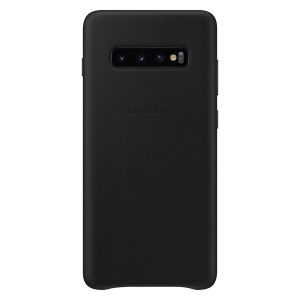 Samsung S10+,G975,Leather Cover,Black