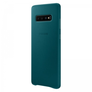 Samsung S10+,G975,Leather Cover,Green