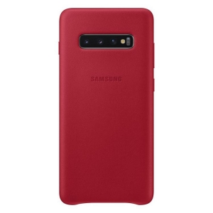 Samsung S10+,G975,Leather Cover,Red