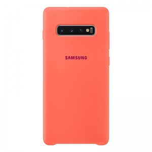 Samsung S10+,G975,Silicone Cover,Berry Pink