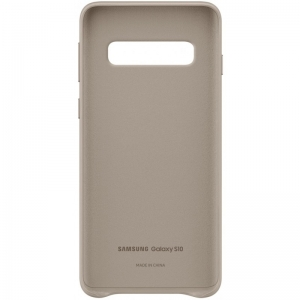 Samsung S10,G973,Leather Cover,Gray