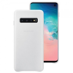 Samsung S10,G973,Leather Cover,White
