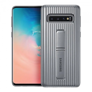 Samsung S10,G973,Protective Standing Cover,Silver