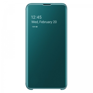 Samsung S10e,G970,Clear View Cover,Green