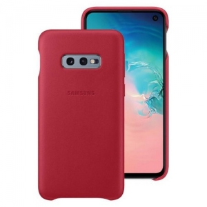 Samsung S10e,G970,Leather Cover,Red