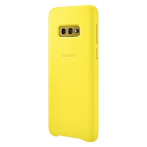 Samsung S10e,G970,Leather Cover,Yellow