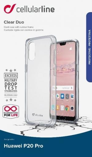 Прозрачен твърд калъф ClearDuo за Huawei P20 Pro