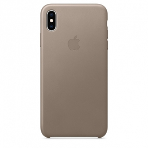 Apple iPhone XS Max Leather Case - Taupe