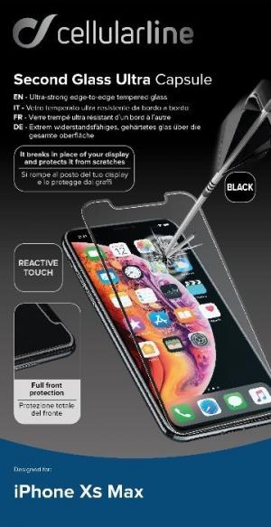 Закалено 3D стъкло iPhone Xs Max черно